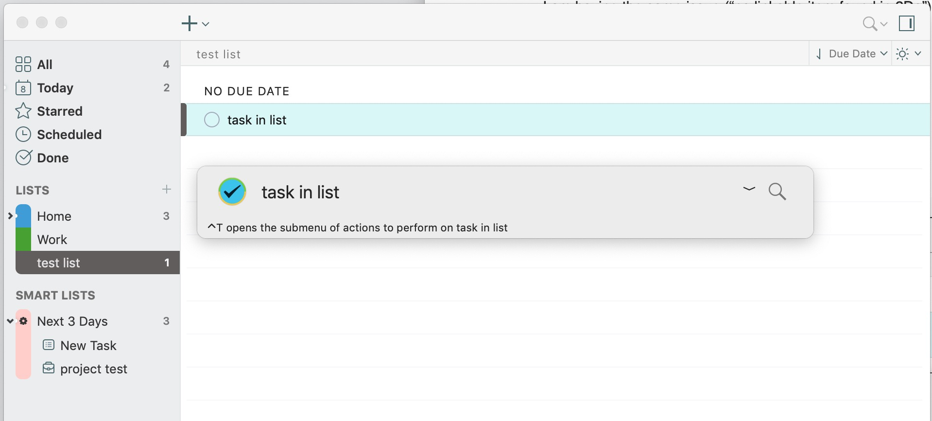 2do - list item Screen Shot 2020-09-08 at 10.38.39